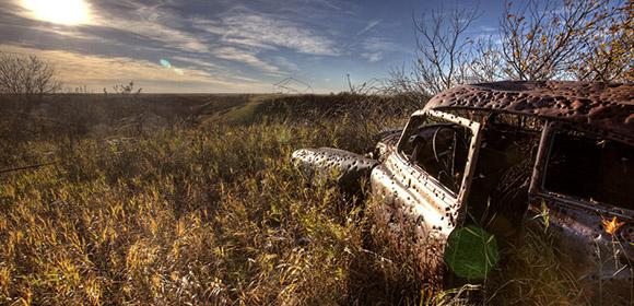 Vintage Car on a Field