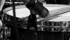 Microphone and Drums
